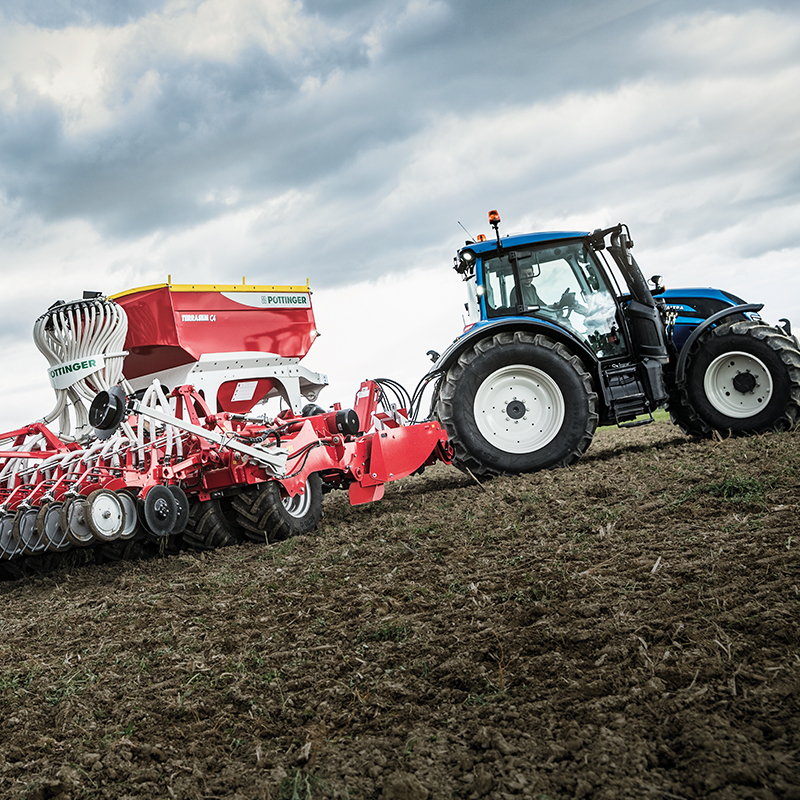 valtra tractor on field